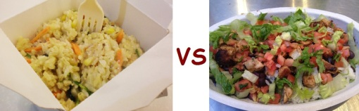 chipotle vs freshii bowl