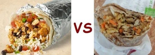 chipotle vs freshii burrito