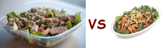 chipotle vs freshii salad