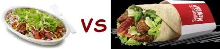 chipotle vs mcD burrito bowl