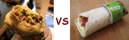 chipotle vs mcD burrito