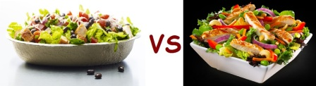 chipotle vs mcD salad