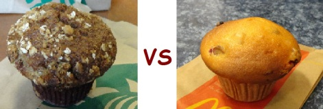 starbucks vs mcD bakery