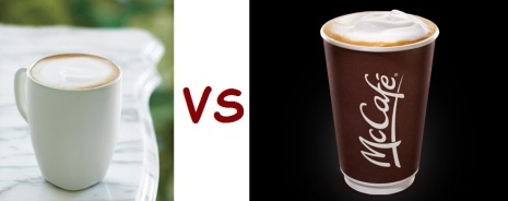 starbucks vs mcD drink