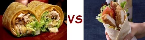 starbucks vs mcD sandwich and wraps