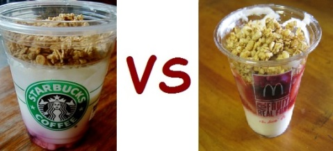 starbucks vs mcD yogurt