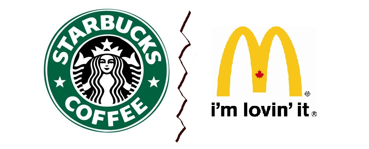 starbucks vs mcdonalds the breakfast wars Mcdonald's vs starbucks: a milky skirmish in the coffee wars the latest front in what the business press likes to call the coffee wars is clearly more a battle.
