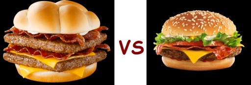 wendys vs mcD hamburger