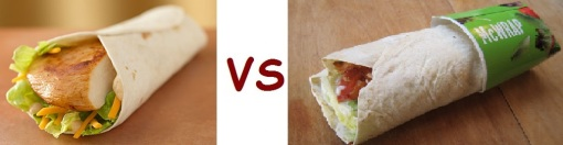 wendys vs mcD sandwich and wraps