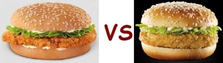 bk vs mcD chicken