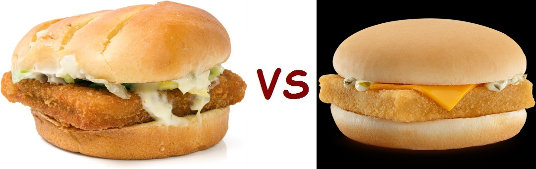Healthy facts monday calories face off burger king vs for Mcdonalds fish calories