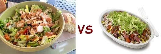 chipotle vs panera salad