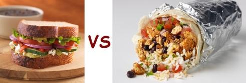 chipotle vs panera sandwich