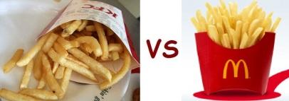 kfc vs mcD chicken fries