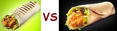 kfc vs mcD chicken wrap 2