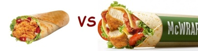 kfc vs mcD chicken wrap