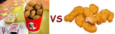 kfc vs mcD nugget