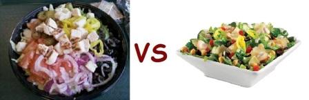 sub vs quiz salad