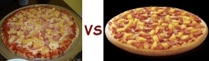 pizza pizza vs pizza hut hawaiian
