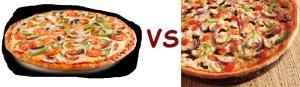 pizza pizza vs pizza hut veggie