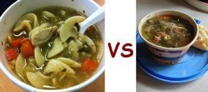 SN vs Zoup noodle
